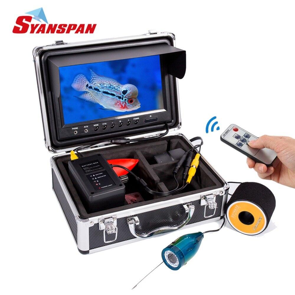 SYANSPAN Fish Finder Portable Sous-Marine Pêche Caméra Vidéo 9 TFT LCD Moniteur, IP68 HD 1000TVL, nuit Version Glace/Lac Pêche