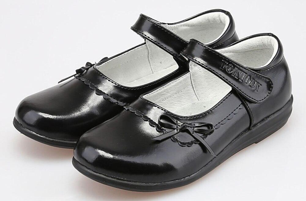 Popular Girls Black Leather School Shoes-Buy Cheap Girls Black ...