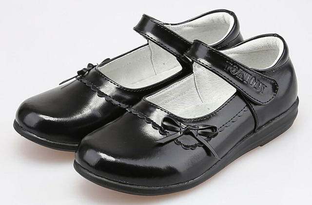 Black Flat Shoes With Buckle