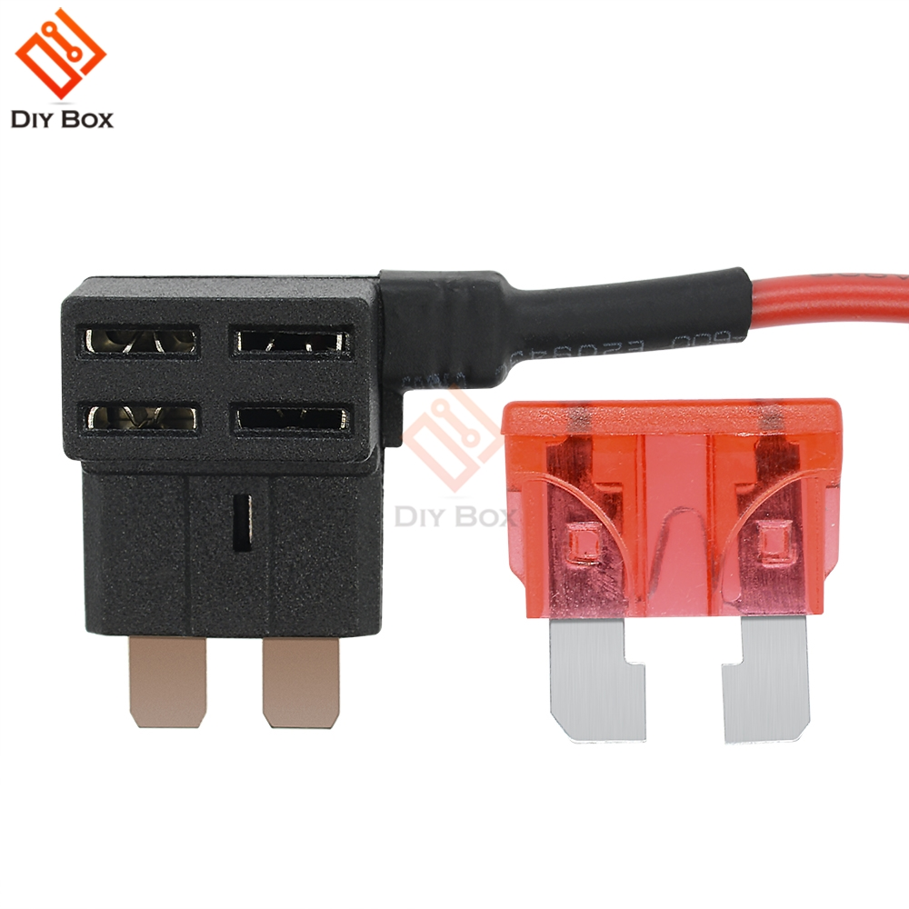 hight resolution of 12v standard car blade fuse holder add a circuit electric appliance back fuse adapter socket cable in fuses from home improvement on aliexpress com