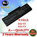 Bateria do portátil para Asus A9 F2 F3 M50 M51 Z53 Z94 S62 Series A32-F3 A32-F2 a32-a32-z94 z96 9 células