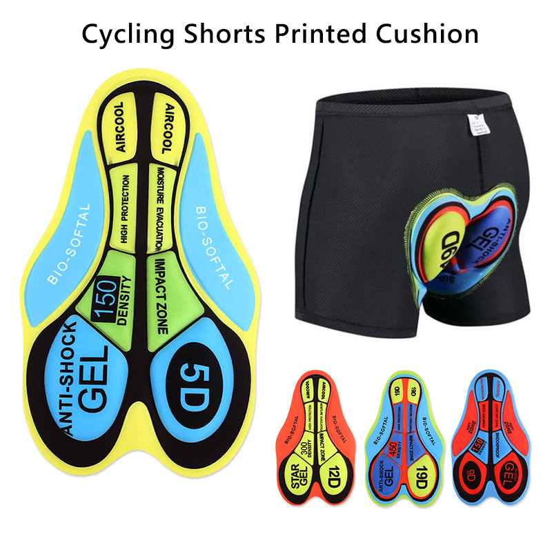 Cycling Shorts Cushion Breathable 5D Pads Bike Riding Base Cushion Biking Underwear 9D Silica Gel Pad Riding Accessories