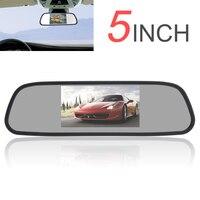 480x272 5 Inch Màu TFT LCD Monitor Xe Gương Góc Nhìn rộng Xe Gương Chiếu Hậu Monitor Car Rear View Xếp màn hình