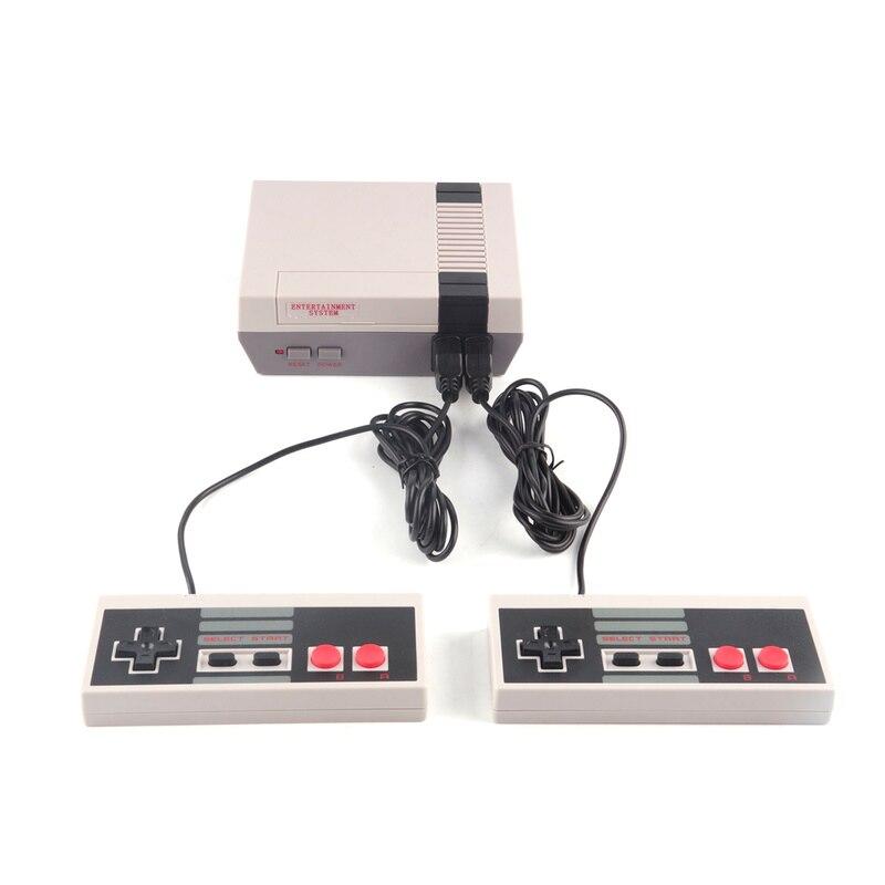 Mini Retro Classic Video Game Console Embutido 620 Jogos Bit 8 PAL & NTSC TV Família Jogador Handheld Do Jogo Duplo gamepads