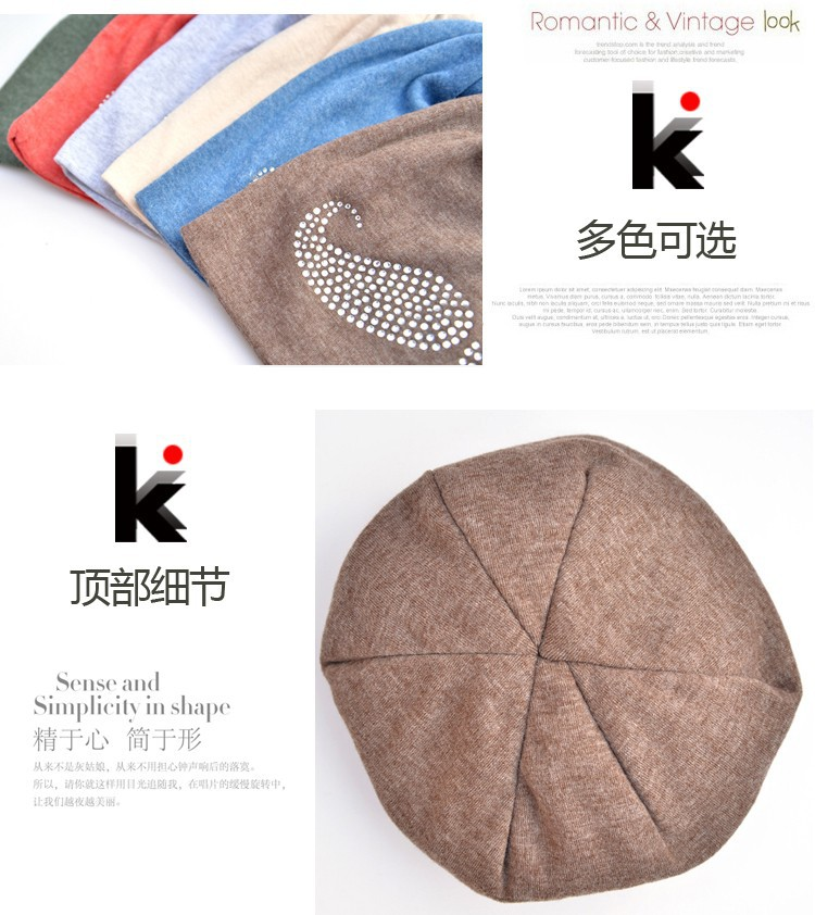 ⊰2018 moda primavera y otoño sombreros gorros diamante patrón barba ...