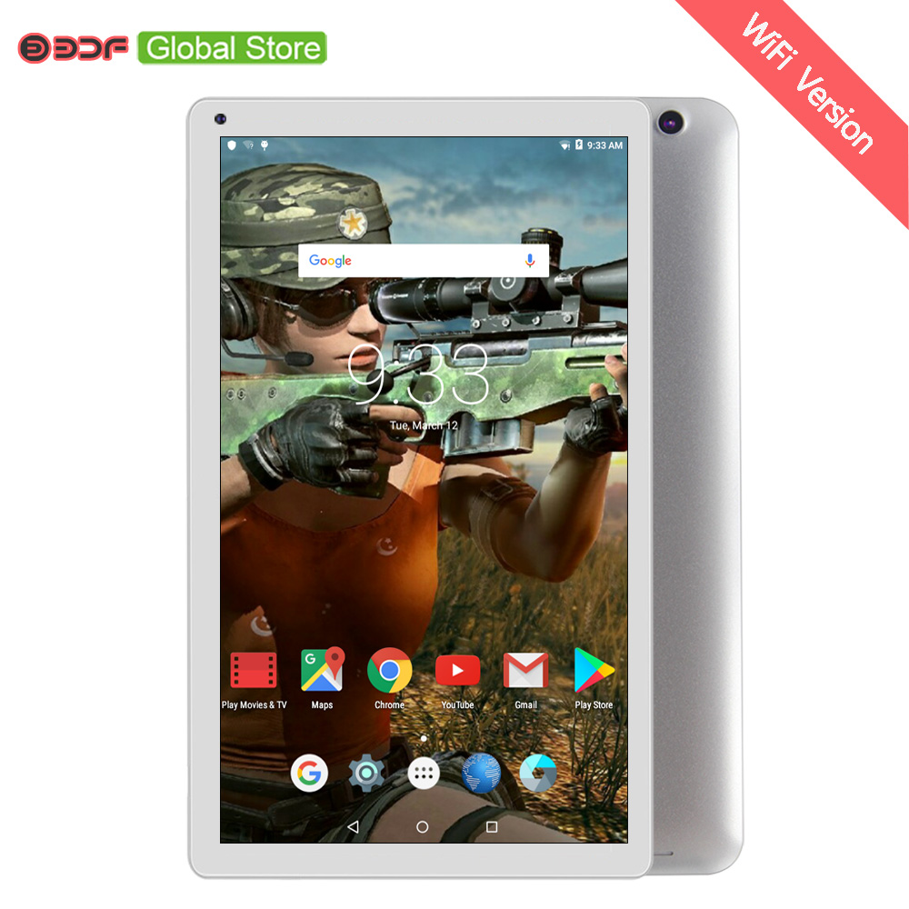 2019 New Arrival 10 Inch Android Tablet WiFi Tablet Pc Quad Core 1GB RAM 32GB ROM Tablets Support Googe Micro TF Card