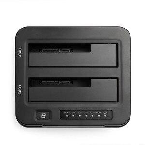 Image 2 - 3.0 인치 2.5 인치 HDD SSD 용 오프라인 클론 기능이있는 SATA 외장형 하드 드라이브 도킹 스테이션에 알루미늄 듀얼 베이 USB 3.5