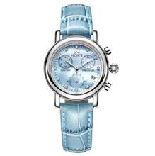 lady ladies genuine leather strap natural pearl shell dial quarzt watch