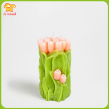 Bouquets of exclusive distribution modelling candles silicone mold carved candle mold three-dimensional silicon mold 3 d