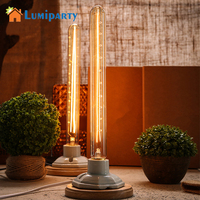 LumiParty Antique Light Bulb Classical Edison Bulb E27 8W Filament Luminaria Tubular Nostalgic Filament Incandescent Home