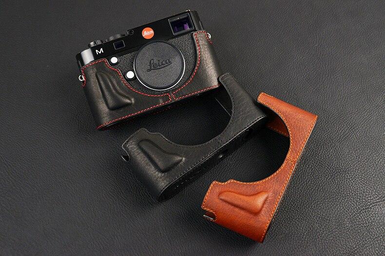 [VR] Handmade Genuine Leather Camera case For Leica M240 MP240 MM246 MD262 MM MD Half Body Camera Bag mr stone handmade genuine leather camera case for leica m m240 m240p m p m262 m m m246 camera bag half cover vintage case