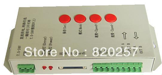 free shipping digital programmable led pixel controller, support IC WS2811,LPD6803,WS2801,TM1804.etc; T-1000S fast shipping 5m 5v ws2801 digital strip 32 ic 32led ip67 t 1000s controller 5v 15a led switching power supply