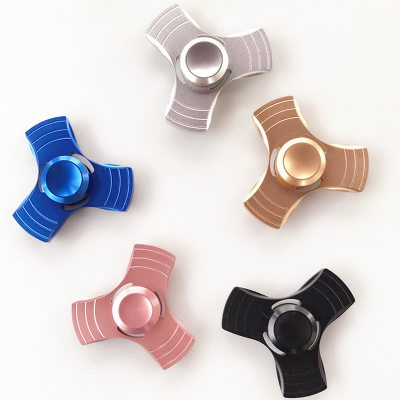 Ceramics Bearing Tri-Spinner ABS EDC Hand Spinners For Autism and ADHD Fidget Spinner An ...