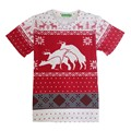 2016 Christmas series 3D t shirt Claus print t-shirt women men fitness tops harajuku t shirt funny snow/Christmas deer tee shirt