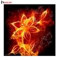 Diamante punto de cruz pintura huacan como fuego oro floral costura 5d diy diamond pintura de la flor decorativa casera f1532