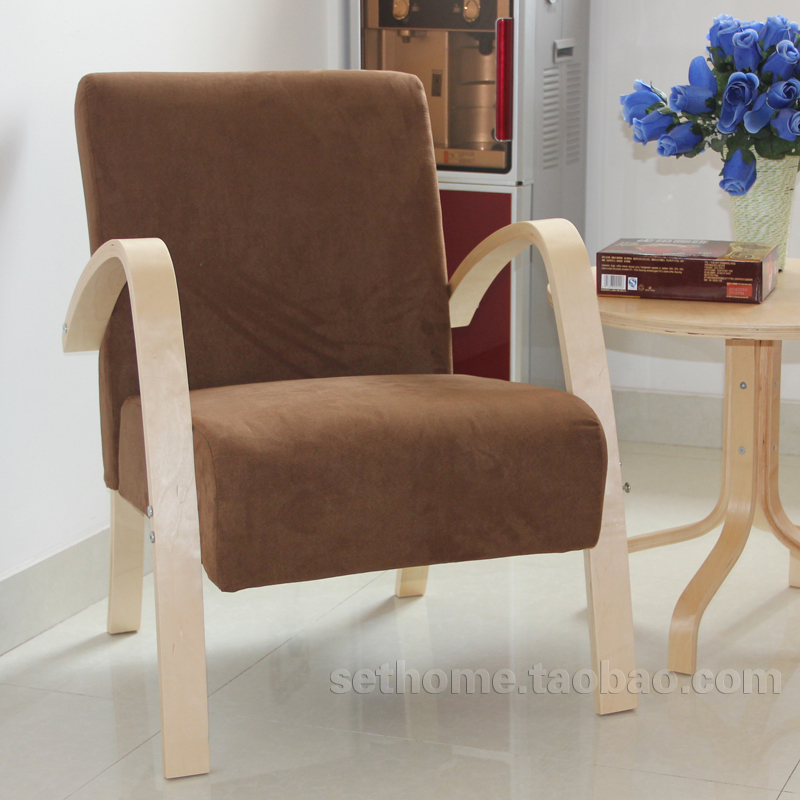 Elegant Cheap Fabric Armchair IKEA Style Small Apartment Sofa Leisure Sofa Small  Sofa Chairs Wood Coffee Shop In Restaurant Chairs From Furniture On  Aliexpress.com ...