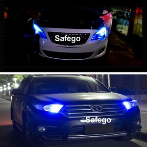 Image 5 - Safego 10x LED T10 W5W LED Bulbs 9SMD 5050 W5W T10 LED White Blue auto car wedge clearance lights W5W 194 168 led interior lamp