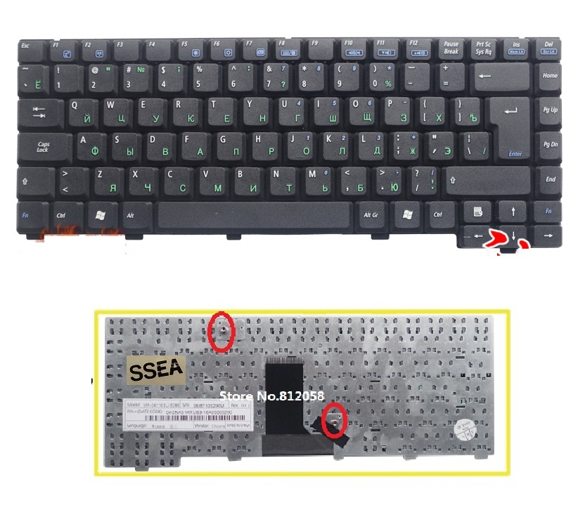 SSEA Brand New laptop RU Keyboard for <font><b>ASUS</b></font> <font><b>A3000</b></font> A6000 A6T A6V A6J A6JC A9 Z91 Z81 A3 A3L A3G Russian Keyboard free shipping image
