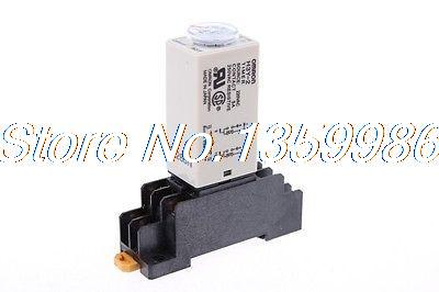 10 set base + time timer relay 8pin H3Y-2 H3Y DC12V 5A 2.0-60Seconds 60S