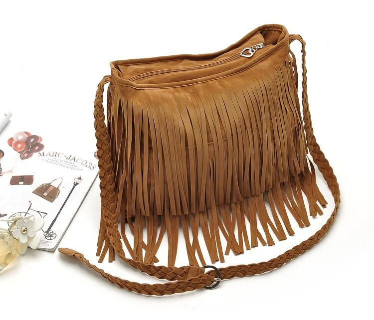 Fashion PU Leather Handbag Tassel bags Vintage Bucket Women Shoulder bag Small Ladies messenger bags Tote bolsa 2015 BH249 (8)