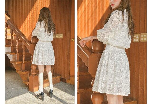 Elegant Black Milk White Summer Lace Mini Dress 1