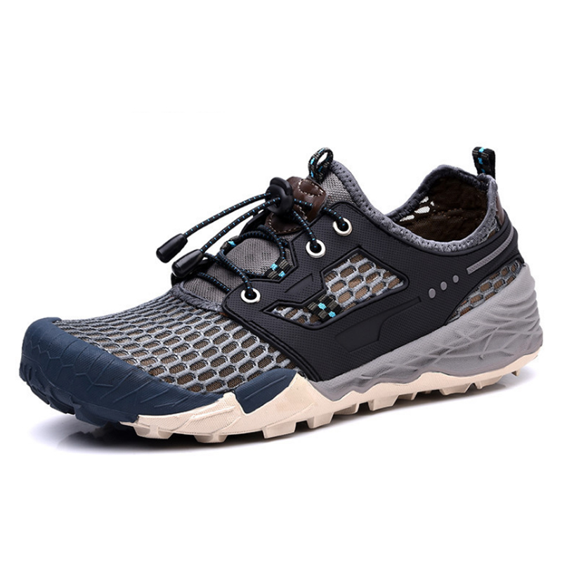 Man Summer Hiking Shoes Breathable Outdoor Sneaker Mesh Trekking Shoes For Women Sport Shoes Plus Size Men Climbing Hiking Shoes 2016 man women s brand hiking shoes climbing outdoor waterproof river trekking shoes