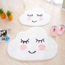 Nordic ins creative entrance mat bedroom personality pink lovely cloud teenage girl cartoon waterproof Non-slip carpet