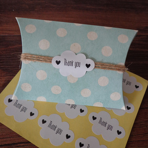 Image 4 - Pegatina de foca blanca en forma de nube, 102 Uds., etiquetas de papel de agradecimiento, bolsa de regalo para caramelos, caja de papel, pegatina para boda, fiesta, Favor, decoración DIY