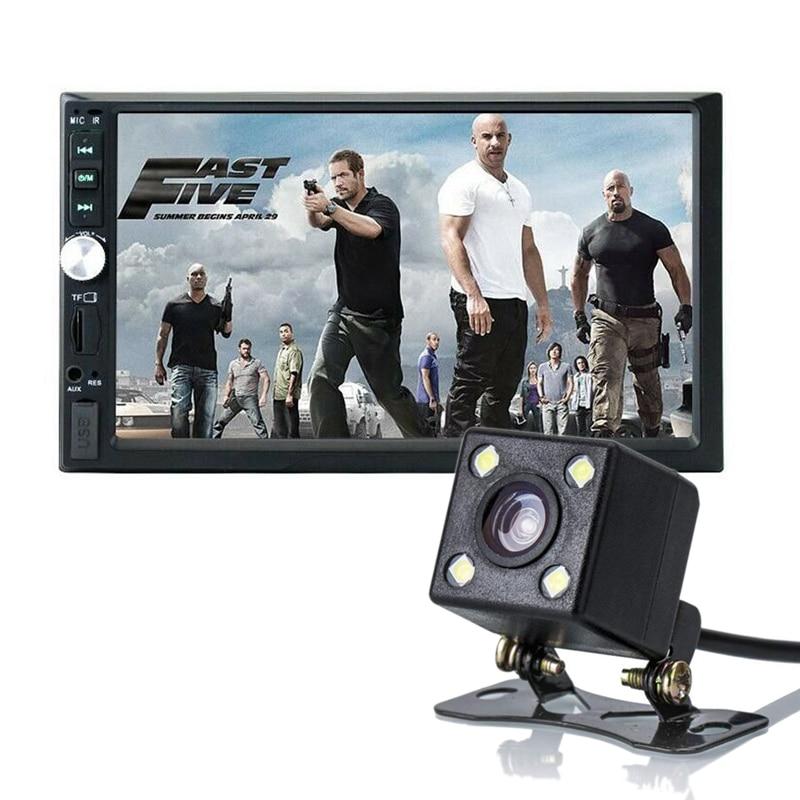 7 Double 2DIN Car Radios Bluetooth HD Player MP5 Touch Screen Display USB SD FM Multimedia 2din Autoradio Rear View Camera