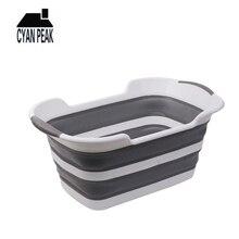 Cesta de roupa suja dobrável de 19l, cesta para lavanderia, roupas sujas, cesto, acessórios para banheiro, lavanderia, casa, armazenamento