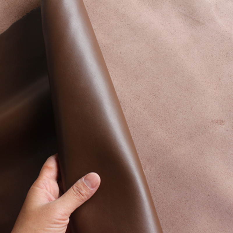 Темно-коричневый гладкий из воловьей кожи ручной работы DIY кожаный бумажник кожа импортированы кожа толщиной 1.4 мм