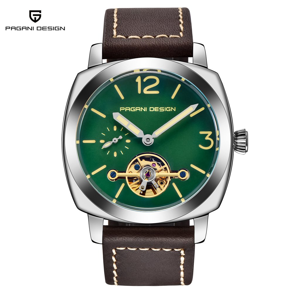 PAGANI DESIGN Mechanical Watch Men Luxury Brand Leather Band Automatic Business Watch Male Clock Montre Homme Erkek Kol Saati