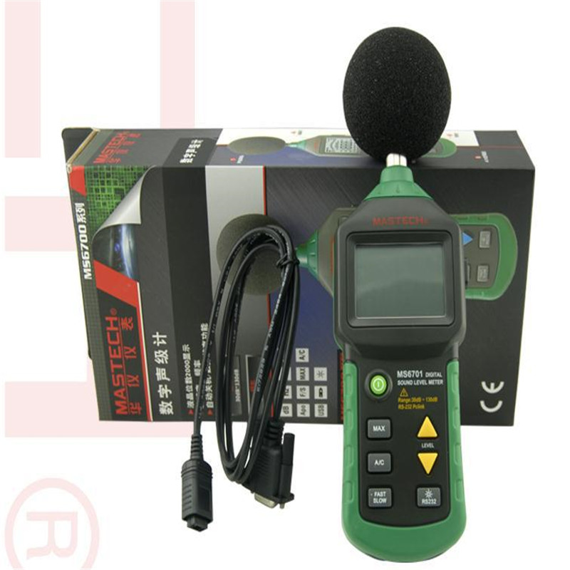 MASTECH MS6701 Autoranging Digital Sound Level Meter Decibel Tester WITH RS232 INTERFACE and software 30dB to