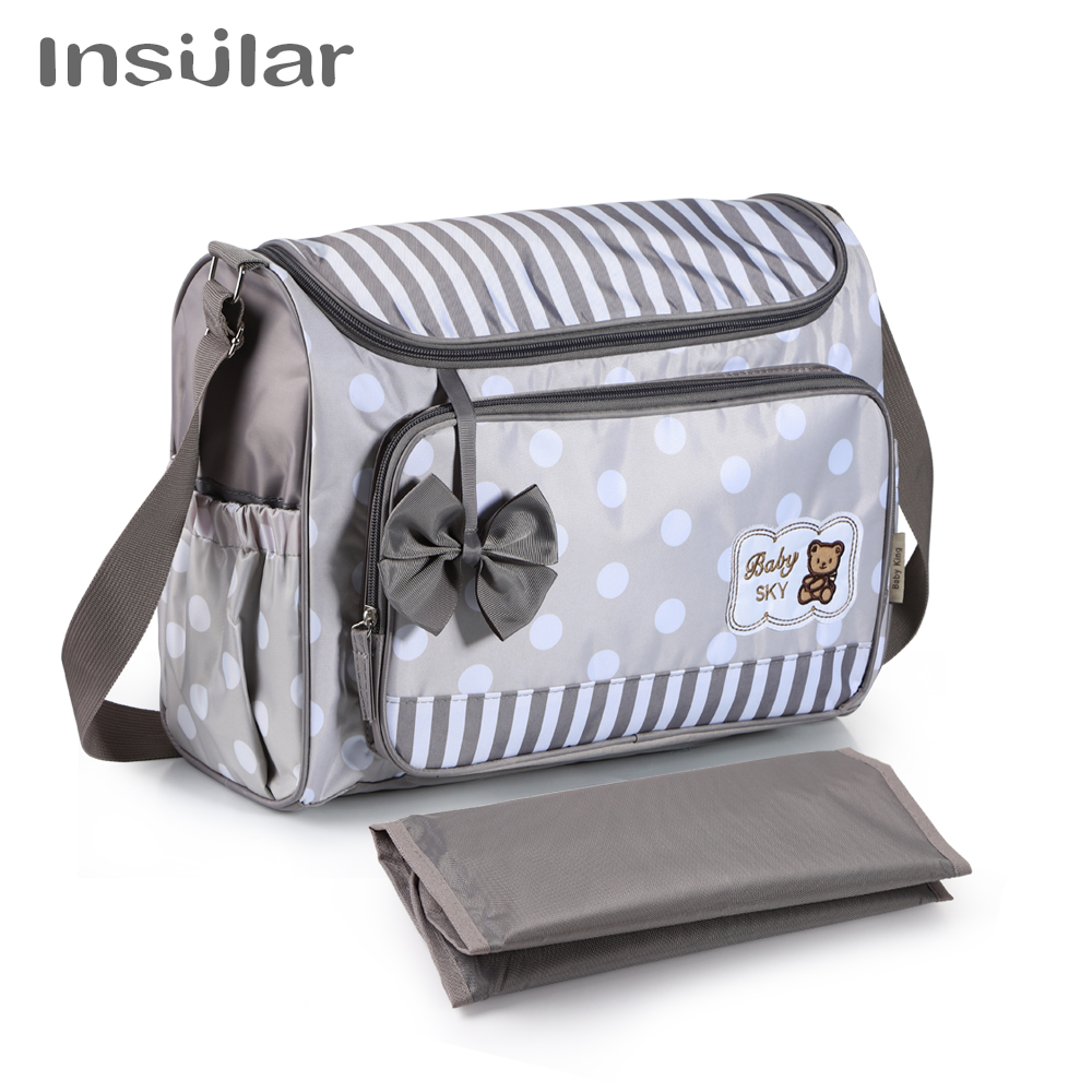 Insular Diaper Baby Mummy Maternity Nappy Bag Brand Travel Message Bag Dot Nursing Bag For Baby Care Stroller Baby Diaper Bags