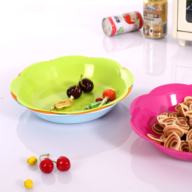 1PC 24.5cm Fashion decoration fruit candy dish high-quality plastic Home Furnishing creative lace & 1PC 24.5cm Fashion decoration fruit candy dish high quality plastic ...