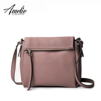 AMELIE GALANTI 2016 Woman Crossbody Bag Solid Casual Zipper Versatile Shoulder Bags 5 Color High Quality