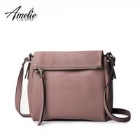 AMELIE GALANTI 2016 Woman Crossbody Bag Solid Casual Zipper Versatile Shoulder Bags 5 Color High Quality