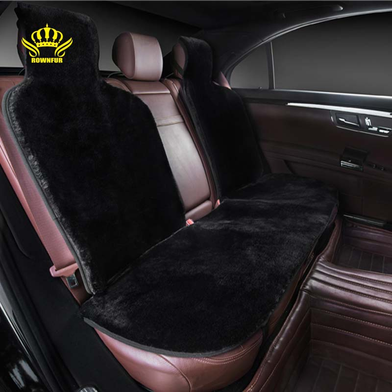 car interior accessories car seat covers faux fur cute cushion styling plush car pad seat cover. Black Bedroom Furniture Sets. Home Design Ideas