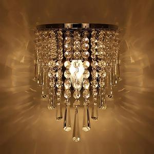 Image 1 - מודרני קריסטל מנורת קיר כרום פמוט קיר אור רחצה סלון בית מקורה תאורת קישוט הנורה לא כלול