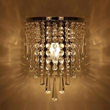 Modern Kristal Duvar Lambası Krom Aplik Duvar Işık Oturma Odası Banyo Ev Kapalı aydınlatma dekorasyon Ampul Dahil Değildir