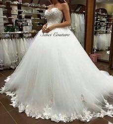 Bruidsmeisje Jurken 2018 hot lace bloem Sweetheart Wit Ivoor Fashion Sexy Trouwjurken voor bruiden plus size maxi size 2 -26 w