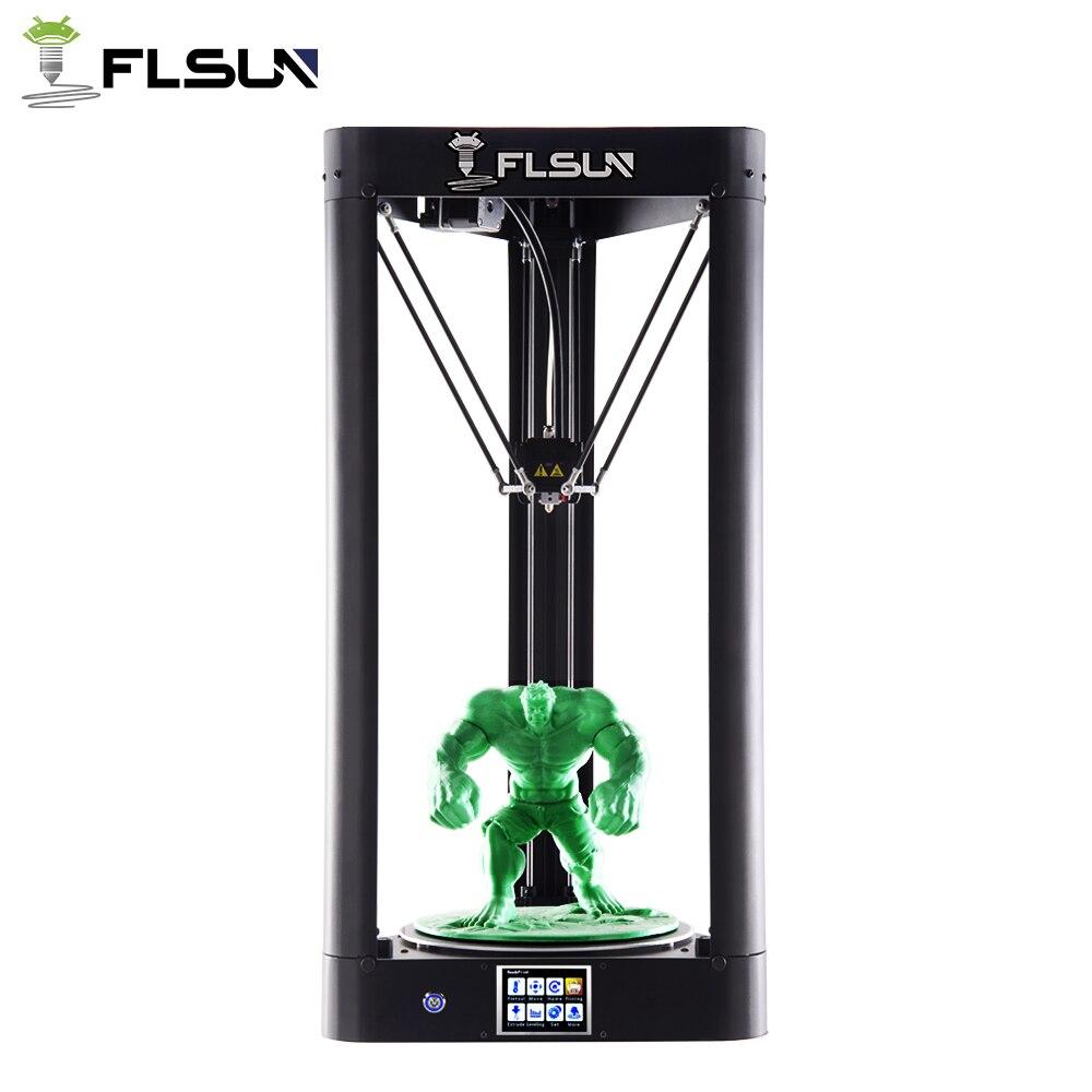 2018 новое обновление flsun-QQ 3D принтер большой Размеры металла Рамки высокое Скорость flsun 3D принтер автоматическое выравнивание с подогревом ...
