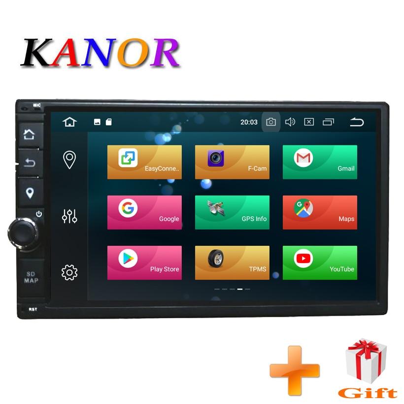 KANOR Octa Core RAM 4G ROM 32G 2 Din Android 8.0 Voiture Radio GPS Navigation Pour Hyundai Elantra Sonata Tucson Santa Fe Lavita Getz