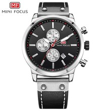 MINI FOCUS Man Watch 2019 Branded Sport Watches For Men Wristwatch Quartz Military Chronograph Leather Clock