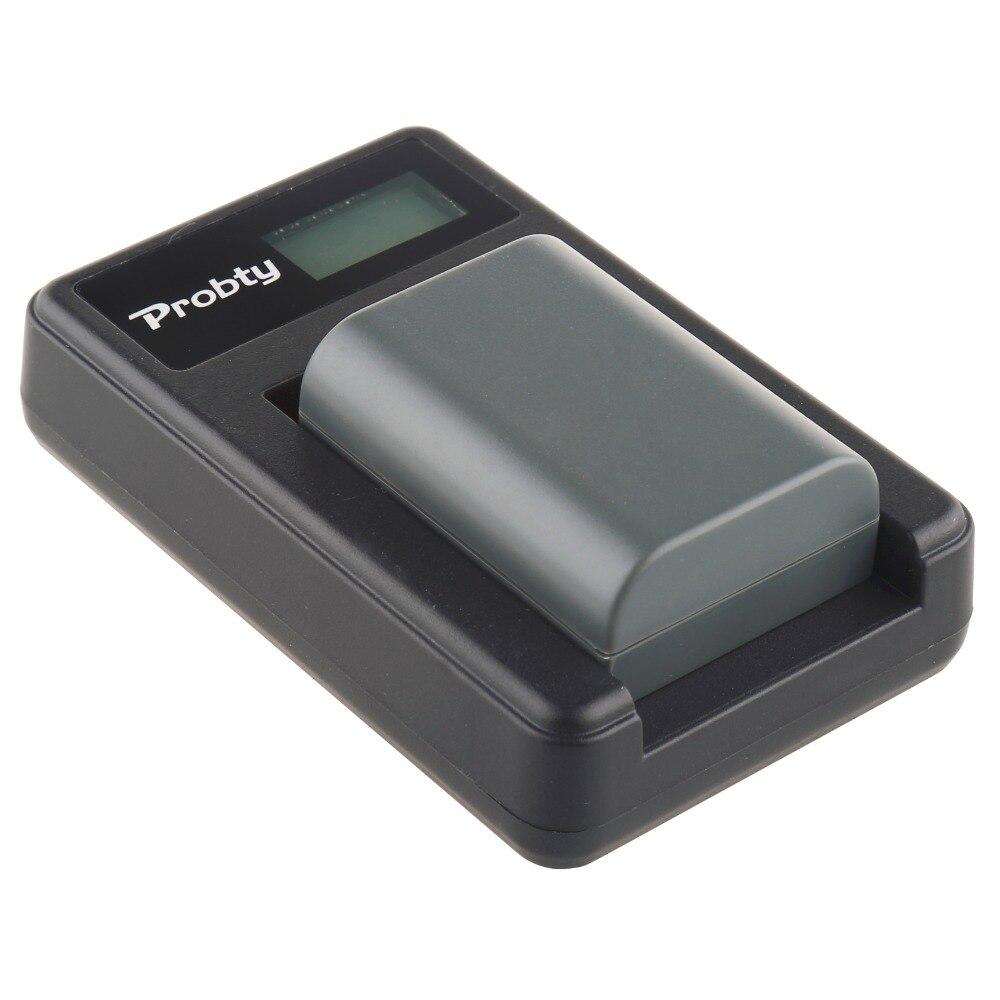 Probty NB-2LH NB 2L Numérique Batterie + LCD USB Chargeur pour Canon DC310 DC320 DC330 DC410 DC420 HV20 HG10 EOS 350D 400D