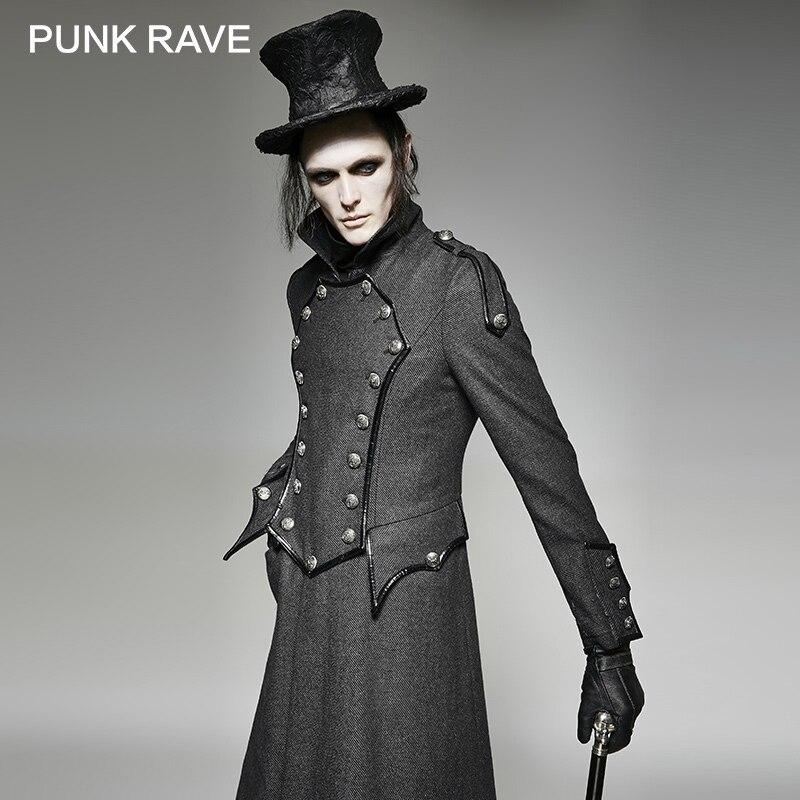 abrigo de manga larga para hombre elegante chaqueta con capucha asim/étrico abrigo hombres retro steam punk g/ótico capa de viento