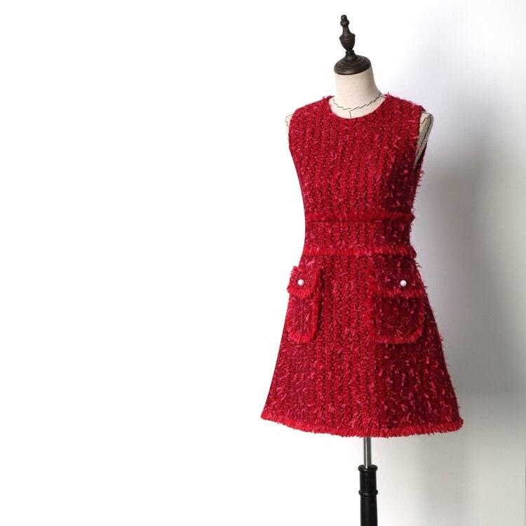새로운 여름 믹서 아름다움은 그의 큰 이름을 누워 패션 빨간 민소매 드레스 정장 기질 도덕을 육성-에서드레스부터 여성 의류 의  그룹 1