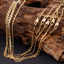New Slim 2mm Gold/Silver Color Jewelry Curb Necklace for Women /Men 45cm 50/55/60/65/70/ 75/80cm Long Link Chains Necklaces X221
