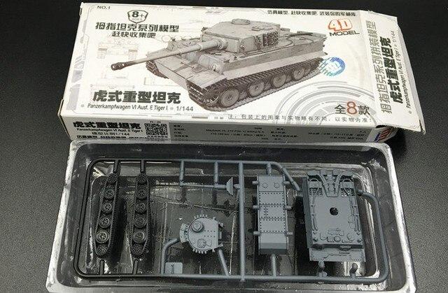 1 144 쿵푸 호랑이 표범 3 주요 전투 탱크 모래 테이블 장면 군사 4D 엄지 조립 모델