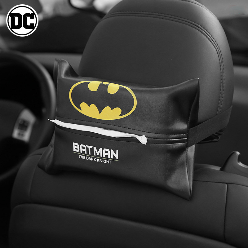 1PC  Super Hero Car Tissue Box Car Case Napkin Styling Tissue Box Holder Cartoon Tissue Box For Car Interior Car Accessories
